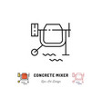concrete mixer icon cement mixer sign vector image