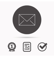 Envelope mail icon Email message sign vector image