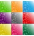 Multi-colored backgrounds bubbles snow Set vector image