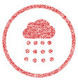 rain cloud fabric textured icon vector image