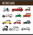 retro cars with amazing vintage design vector image