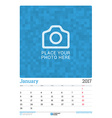 Wall Monthly Calendar Planner for 2017 Year vector image