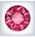 Brilliant shiny ruby on grey background vector image