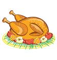Thanksgiving Turkey food vector image