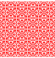 Festive seamless of red hearts vector image