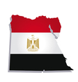 egypt africa map flag vector image vector image