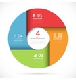 circle template for business infographics vector image