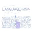 Language School Infographics vector image