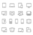 Lines icon set - responsive devices vector image vector image
