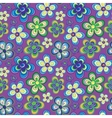 seamless floral pattern in bright multiple vector image vector image