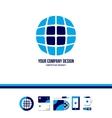 Technology tech globe logo vector image