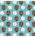 baseball club glove and ball design vector image