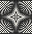 black white starburst background striped vector image