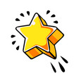 five pointed yellow star comic vector image