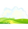 Green hills background vector image