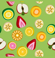 seamless background with bright fruit candy vector image
