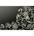 Wallpaper decor on Black vector image vector image