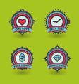 Trendy badges vector image vector image
