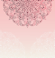 Pink invitation with lace templat vector image vector image