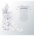 Bindweed on a gray background vector image vector image
