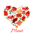 butchery meat products poster vector image