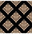 Floral beige damask seamless pattern vector image vector image