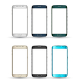 Realistic Smartphones set Isolated mobile phone vector image