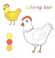 Coloring book chicken kids layout for game vector image
