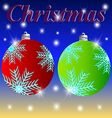 Christmas winter holiday greeting snow stars styl vector image