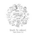 Set of school drawings Sketches Hand-drawing vector image