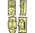 Four Tiki vector image vector image