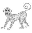 Monkey Zentangle Monkey vector image vector image