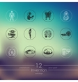 Set of invention icons vector image