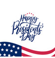 happy presidents day handwritten phrase in vector image