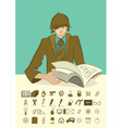 icons person vector image