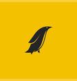 penguin logo minimal styled logo vector image