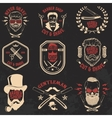 Set of Barber shop emblems vector image