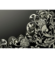 Wallpaper decor on Black vector image