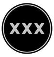 xxx black coin vector image