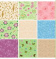 floral seamless patterns with flowers vector image