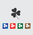 Clover icons vector image vector image