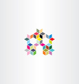 colorful house with cubes design element vector image