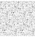 Hand drawn circus seamless pattern vector image