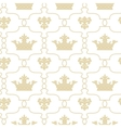 Seamless background with crowns and Fleur de lis vector image vector image