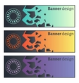 Banner design Collection of three beautiful vector image