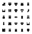 Clothes Apparel and Garments Icons 1 vector image