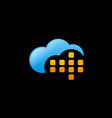 cloud data technology logo vector image