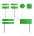 green road sign set vector image