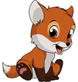 Little funny fox vector image