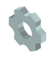metal gear 3d business icon vector image